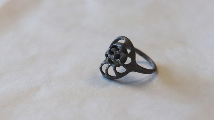 Exemple de pièce 3D réalisé en fusion métal pour les métaux précieux